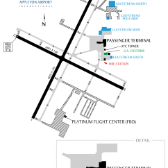 General Aviation Scale Diagram Outline Of The Eye Airfield Layout Appleton International Airport Atw