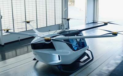 The Skai is a multipurpose flying car powered by hydrogen fuel cells