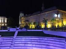 rimski stadion square at night