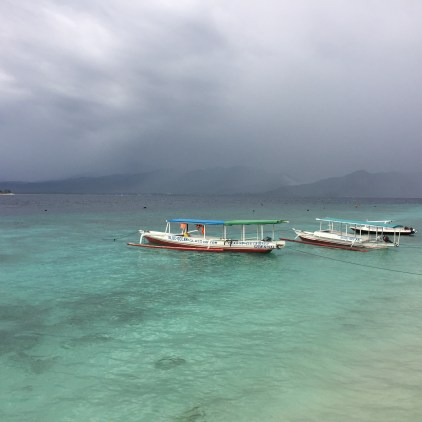 a windy day on gili meno