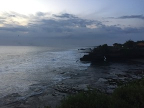 tanah lot. the back dots are bats...