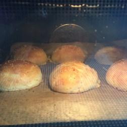 self-made burger buns