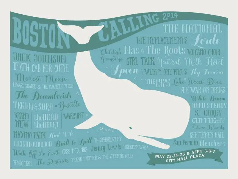 Boston Calling 2014 poster