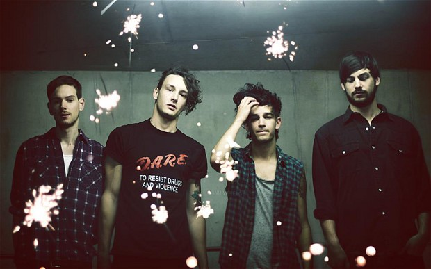 The 1975 (from left to right): Adam Hann, George Daniel, Matt Healy and Ross MacDonald Credit: atlscribe.com