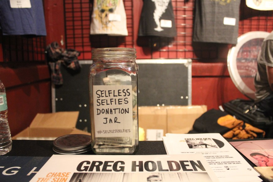 Greg Holden's Selfless Selfies Jar