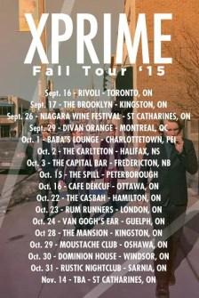 Xprime Fall 2015 tour