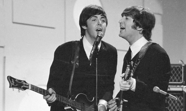 The Beatles' Paul McCartney and John Lennon