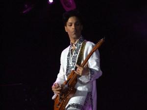 Prince at the Coachella Festival in 2008