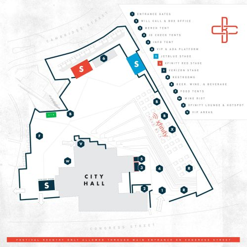 Boston Calling map