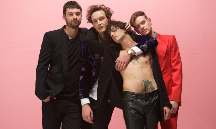 "The 1975 are: Matt ""Matty"" Healy, Adam Hann, George Daniel, and Ross MacDonald"