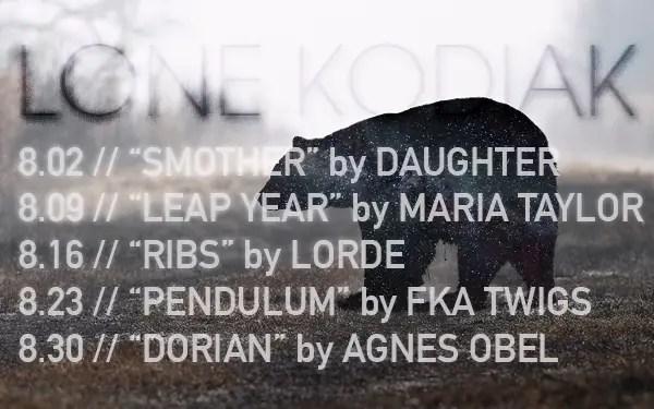 Lone Kodiak's August 2016 release schedule