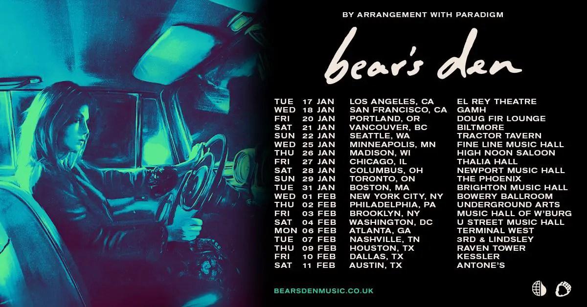 Bears Den Tour Dates