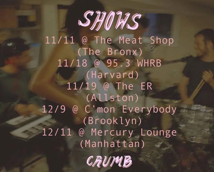 Crumb 2016 live dates