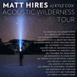 Matt Hires - 2017 tour dates