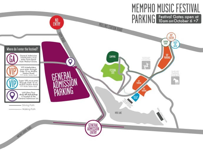 Mempho Music Festival 2018 MAP