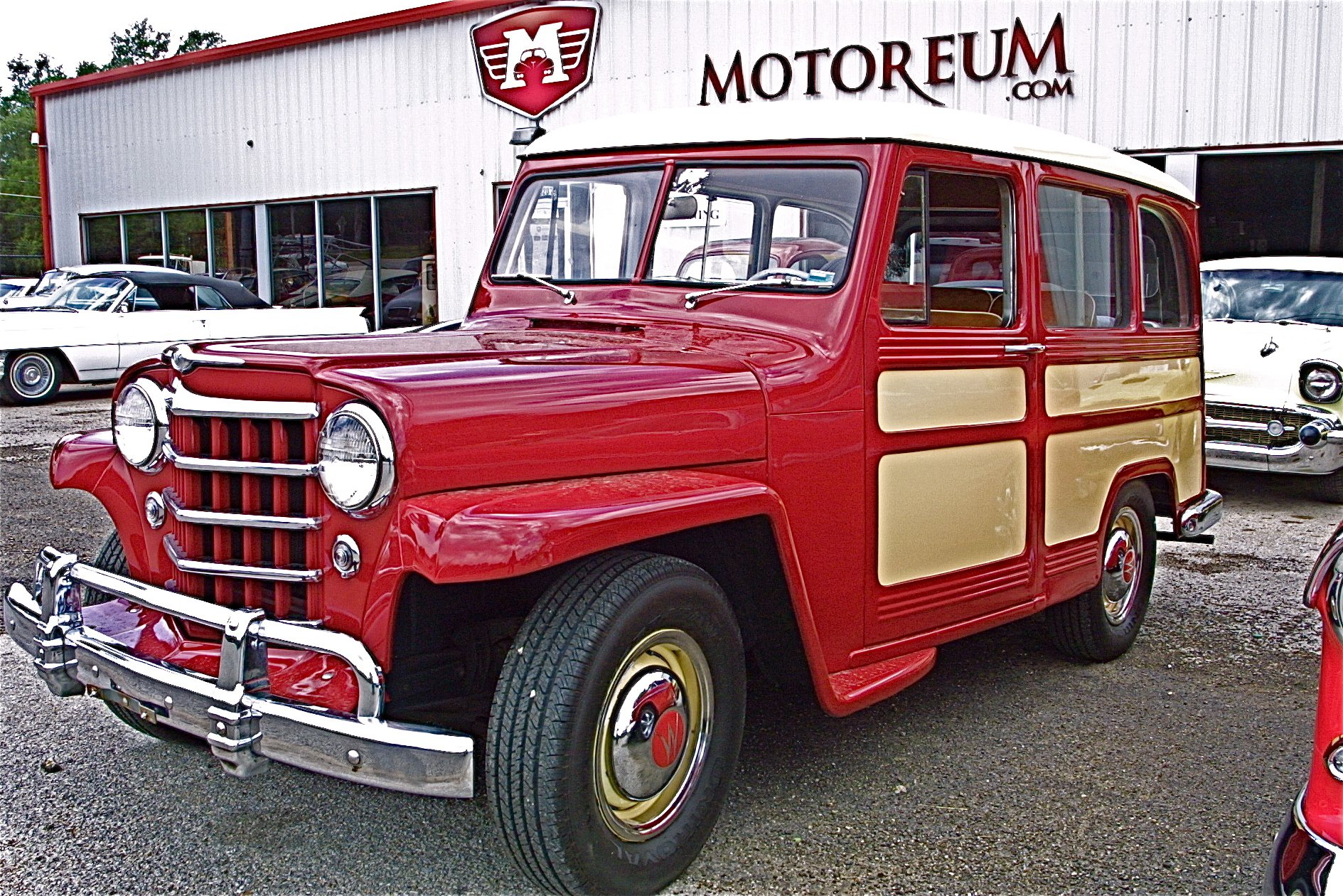rare restored 1951 jeep willys wagon for sale at motoreum atx car pictures real pics from. Black Bedroom Furniture Sets. Home Design Ideas