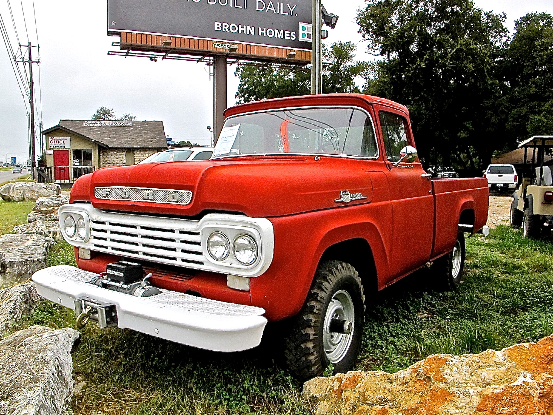 rare 1959 factory 4 4 ford f100 with diesel power atx car pictures real pics from austin tx. Black Bedroom Furniture Sets. Home Design Ideas