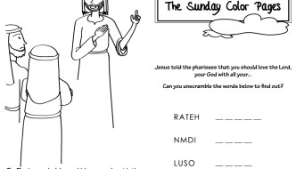 30th Sunday in Ordinary Time Coloring Pages