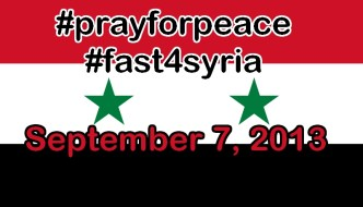 #prayforpeace and #fast4syria