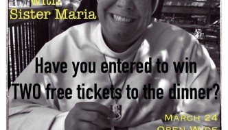 FREE tickets to dinner benefiting Dominican Sisters of Mary, March 24