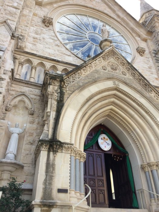 The Door of Mercy at the Cathedral in Austin, Texas.
