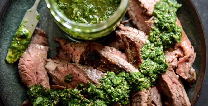 Recipe #15: Chimichurri Steak & Roasted Veggies (Whole30)