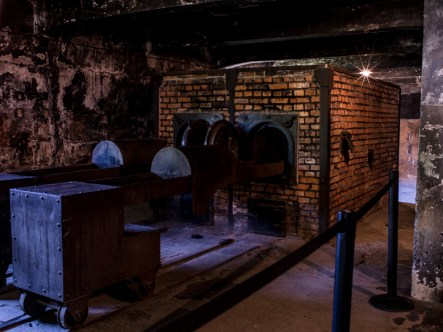 the crematory..where all bodies were burned..no remains, more space..