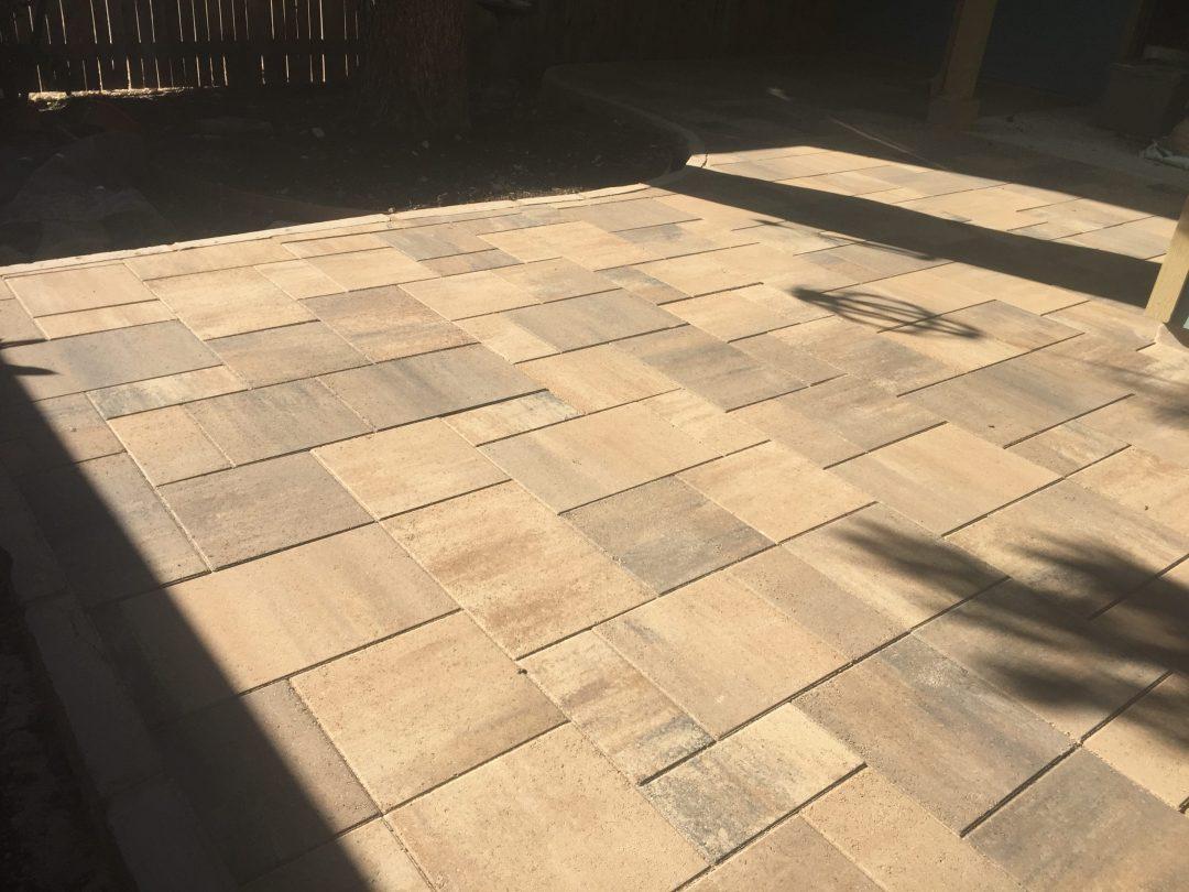 Paver patio in austin, texas