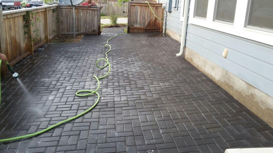 Brick patio installation in austin texas