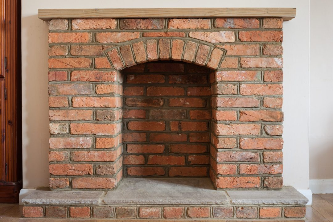 Brick fireplace in austin,texas