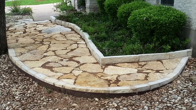 flagstone walkway in Austin, texas