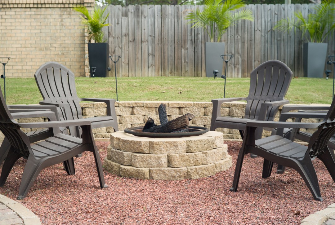 Paver Firepit in austin,texas