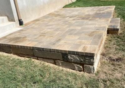 Raised patio installation