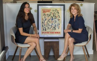 Movement Mujeres founders with poster