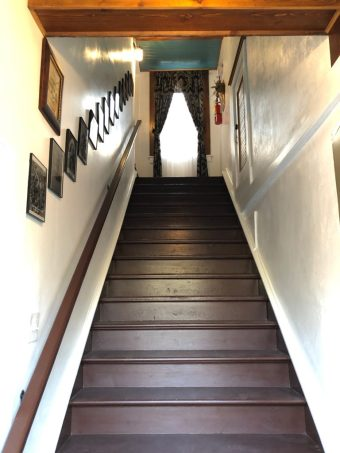 Haunted Magnolia Hotel staircase
