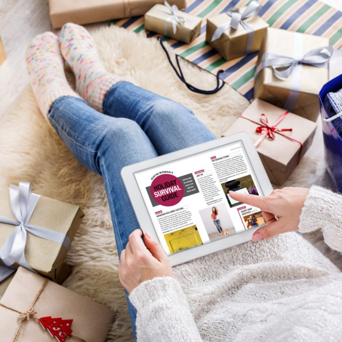 Austin Woman Holiday Survival Guide  - woman shopping for holiday gifts