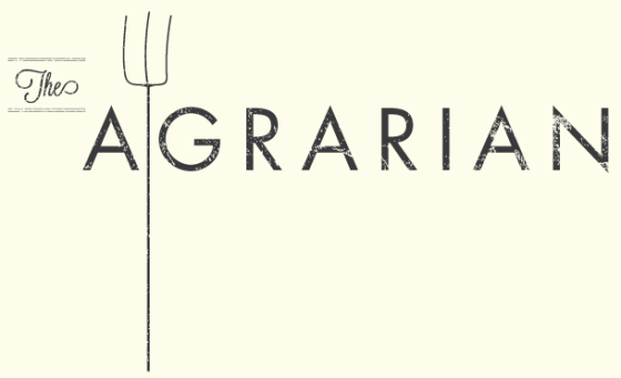 A logo for a temporary pop-up vegetarian restaurant.