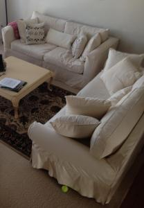 Living Room Sofas. Lotta white.