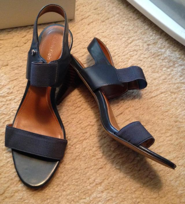 Calvin Klein Navy Sandals. I love these because Navy is so difficult to find.