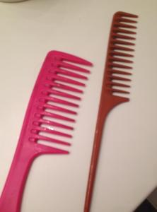 Wide-Toothed combs. I will ONLY use these combs for my wet hair