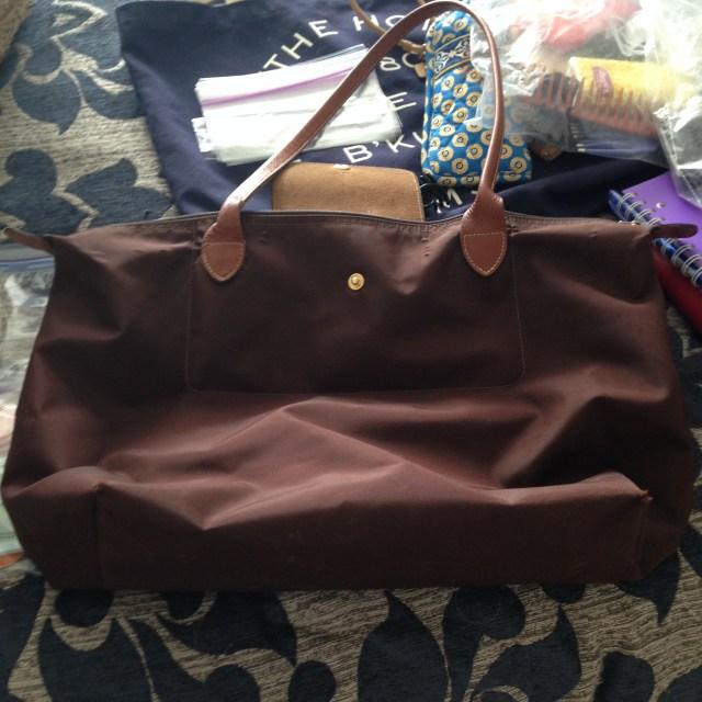 Longchamp bag emptied