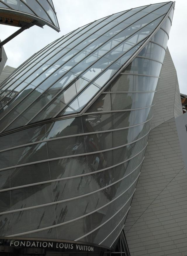 Paris. Fondation LV another outside view
