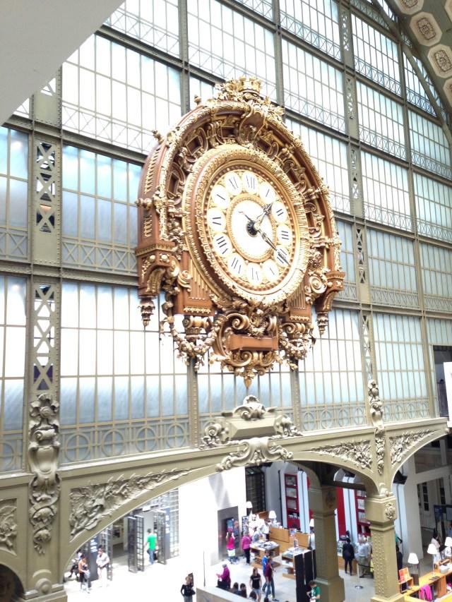 Paris. Orsay. Clock shiny and bright