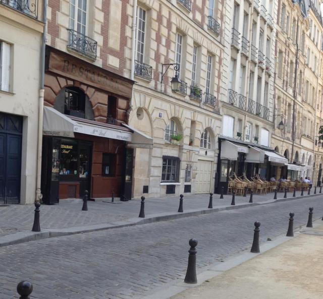 Paris. Place Dauphine. Chez Paul and Le Caveau. Sunday AM June 14 2015