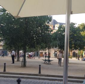 Paris. Place Dauphine view from Chez Paul