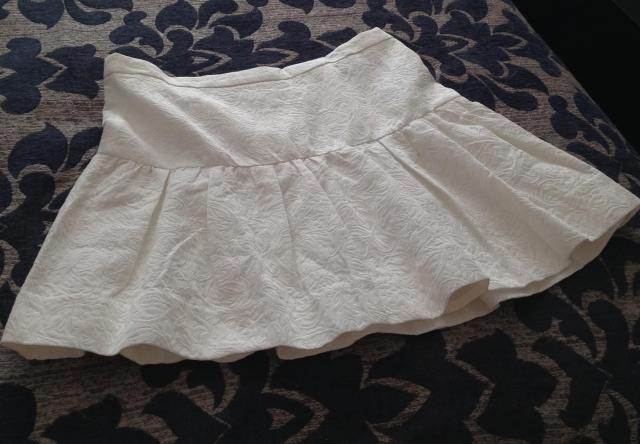 Shop for Charity. J. Crew skirt that not only doesn't fit, it's too short for my cellulite ritten thighs. Goodwill.