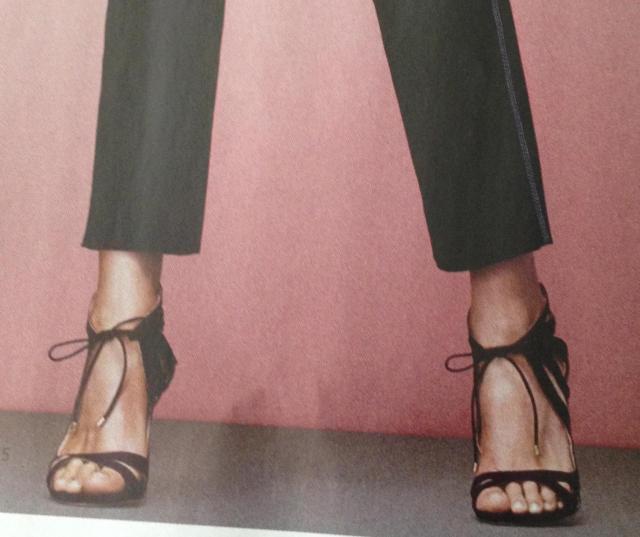 Black strappy heels  by Chelsea Paris 625.00