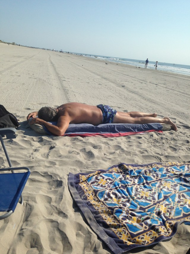Bonaparte in his favorite beach position