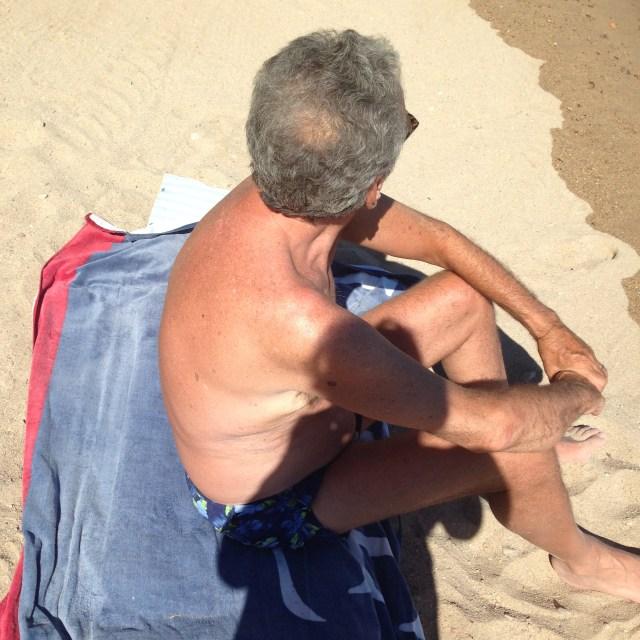 L'Aiguille. Vincent enjoying the beach scene