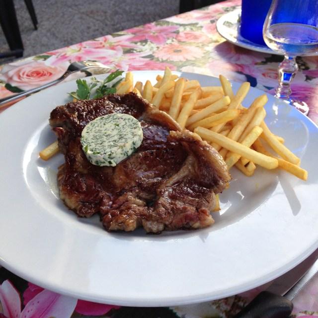 L'Aiguille. Vincents Steak Frites. Loved them!